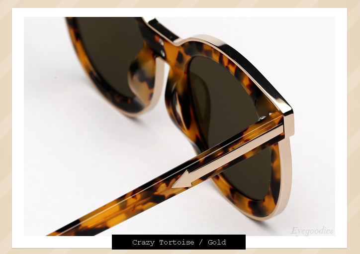 3e6f3242d86 ... Karen Walker Super Spaceship sunglasses - Tortoise ...