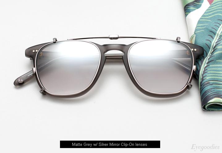 Garrett Leight Brooks eyeglasses with Clip-on lenses - Matte Grey