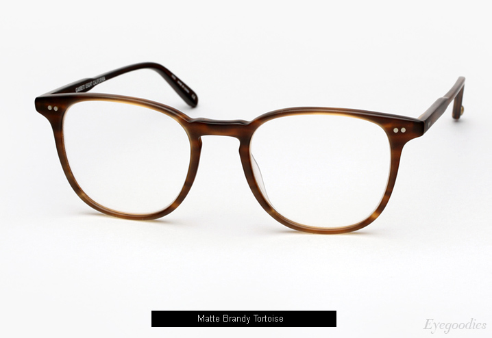 Garrett Leight Cabrillo eyeglasses - Matte Brandy Tortoise