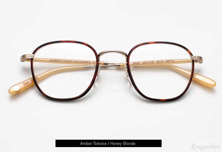 Garrett Leight Grant eyeglasses - Amber Tortoise
