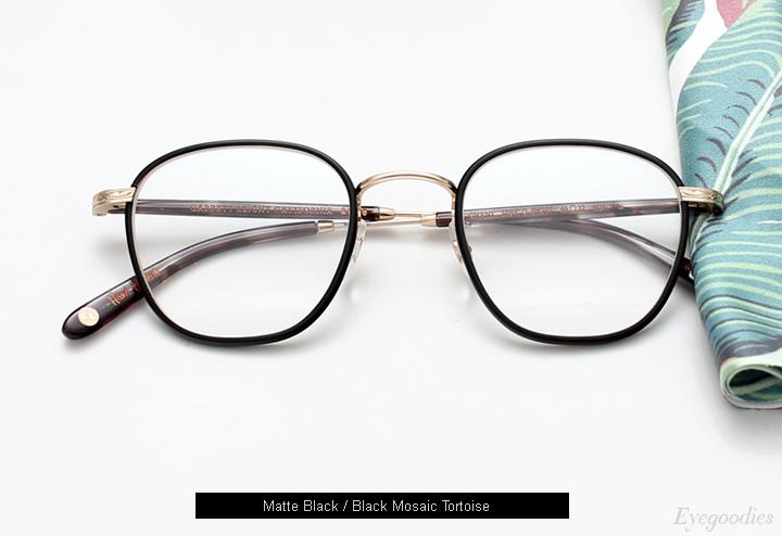 Garrett Leight Grant eyeglasses - Matte Black