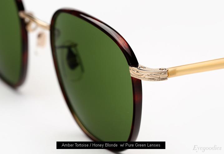 Garrett Leight Grant sunglasses - Amber Tortoise