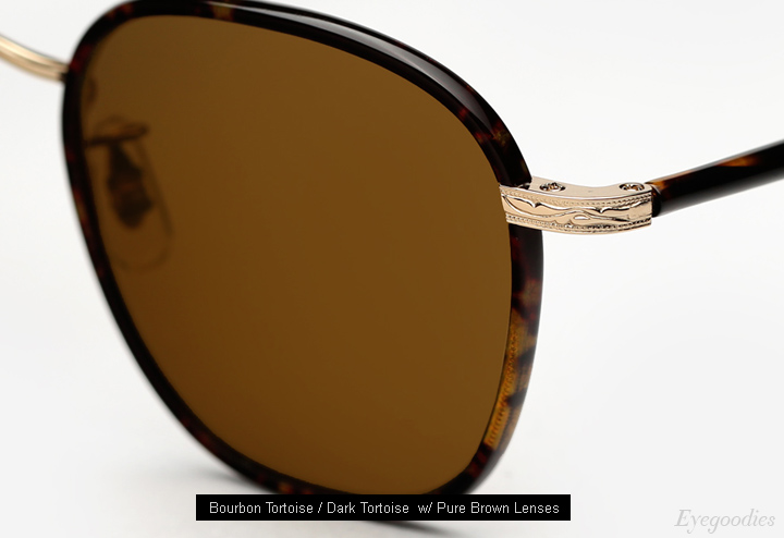 Garrett Leight Grant sunglasses - Bourbon Tortoise
