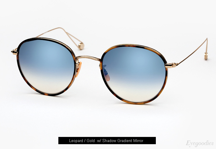 Garrett Leight Paloma sunglasses - Leopard / Gold