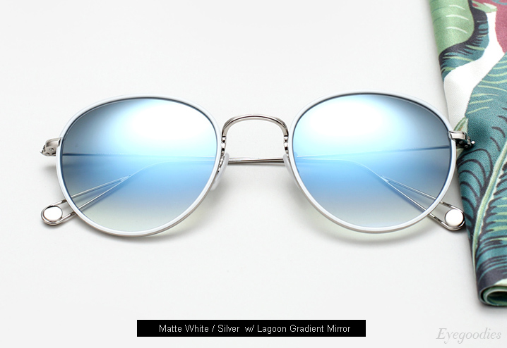 Garrett Leight Paloma sunglasses - Matte White / Silver