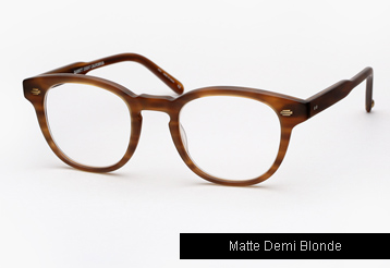 Garrett Leight Warren Eyeglasses - Matte Demi Blonde