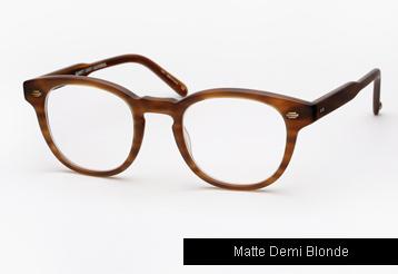 Garrett Leight Warren Eyeglasses - Matte Demi Blonde