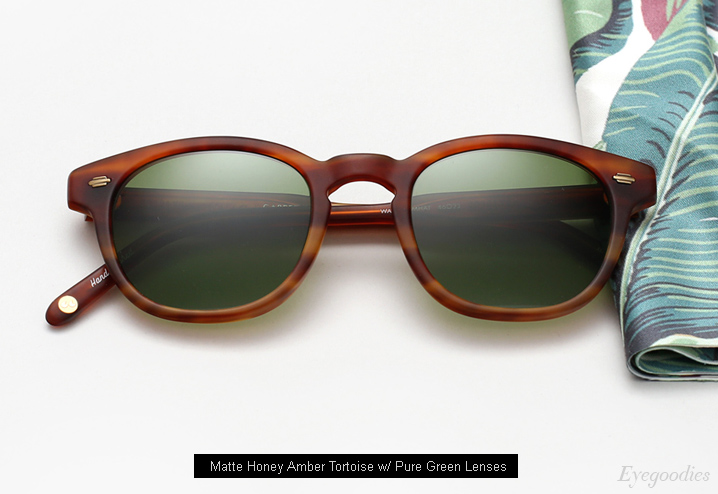 Garrett Leight Warren Sunglasses - Matte Honey Amber Tortoise