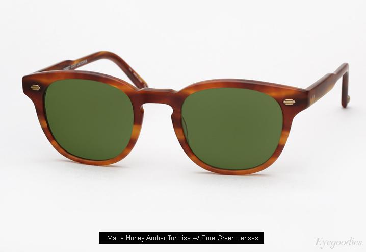 Garrett Leight Warren Sunglasses - Matte Honey Amber Tortoise