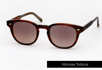 Garrett Leight Warren Sunglasses - Whiskey Tortoise