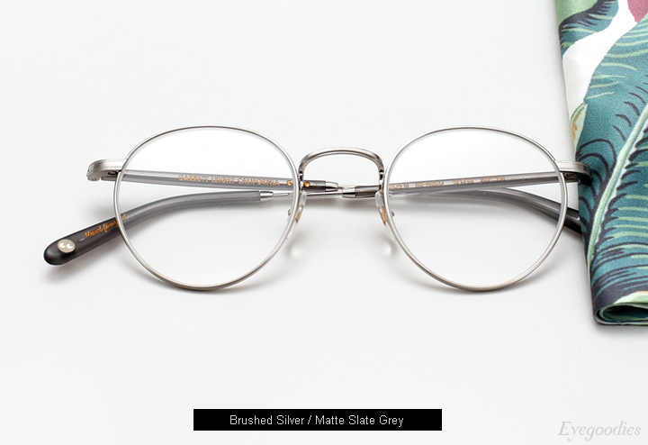 Garrett Leight Wilson M eyelgasses - Brushed Silver