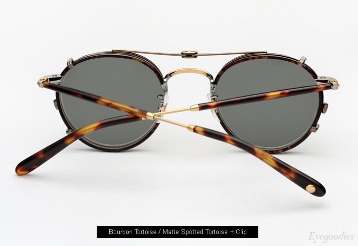 clip on sunglasses - Metallic Garrett Leight vXdbus