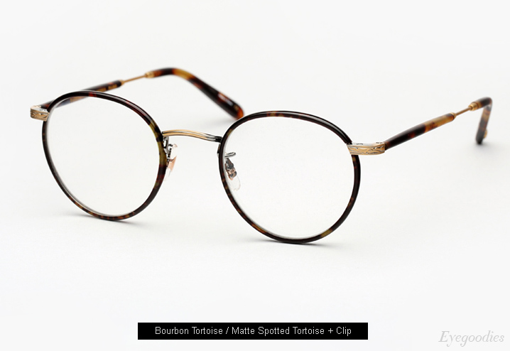 Garrett Leight Wilson Eyeglasses with Clip-On Lenses - Bourbon Tortoise