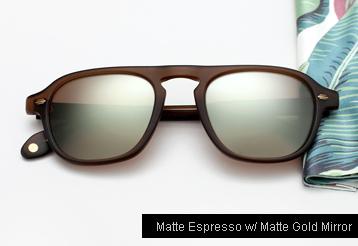 Garrett Leight Grayson sunglasses - Matte Espresso