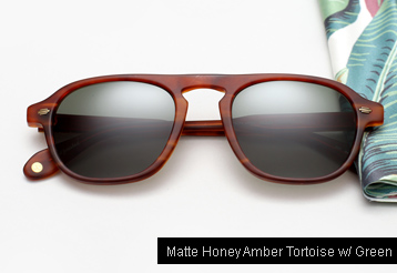 Garrett Leight Grayson sunglasses - Matte Honey Amber Tortoise