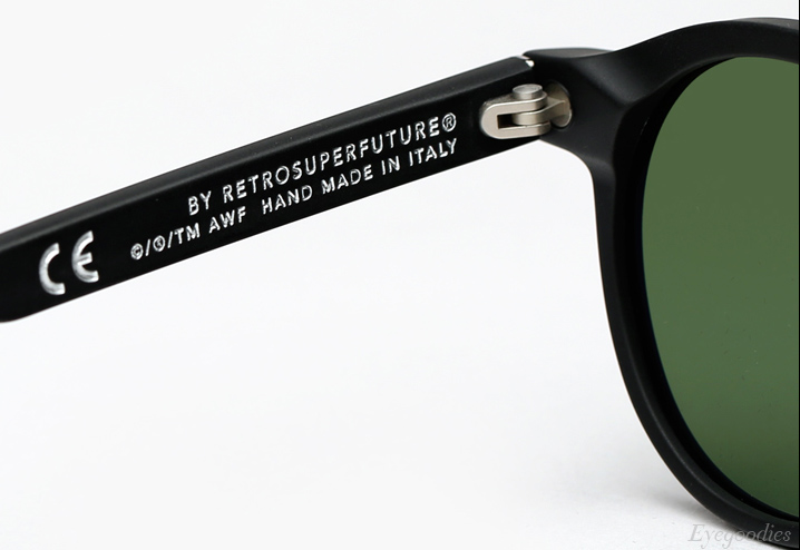 Super The Iconic Matte Black sunglasses