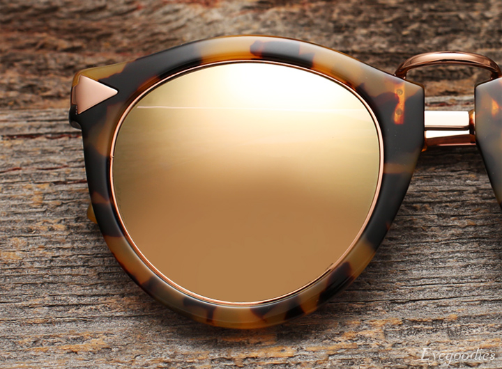 Karen Walker Superstars sunglasses - rose gold trim with champagne mirror