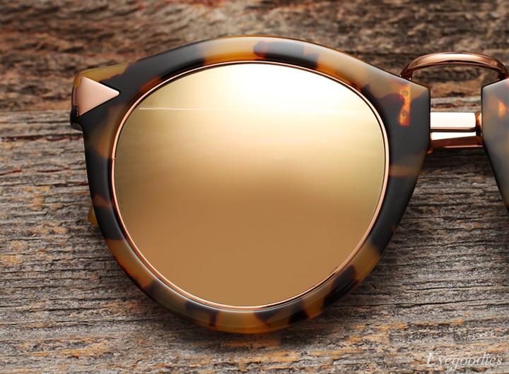 Karen Walker Superstars sunglasses - rose gold trim with champagne mirror