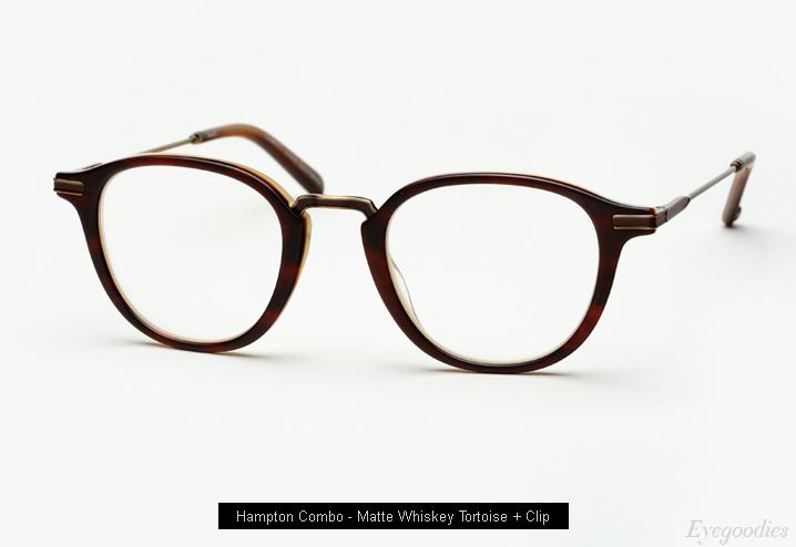 Garrett Leight Hampton Combo eyeglass - Matte Whiskey Tortoise