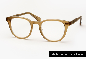 Garrett Leight Mckinley Eyeglasses - Matte Bottle Glass Brown