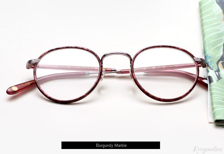 Garrett Leight Wilson eyeglasses - Burgundy Marble