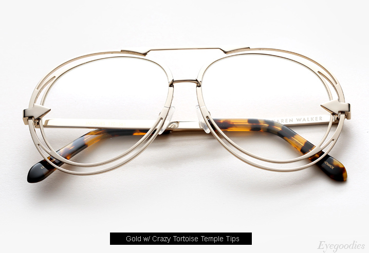 Karen Walker Jacques eyeglasses - Gold