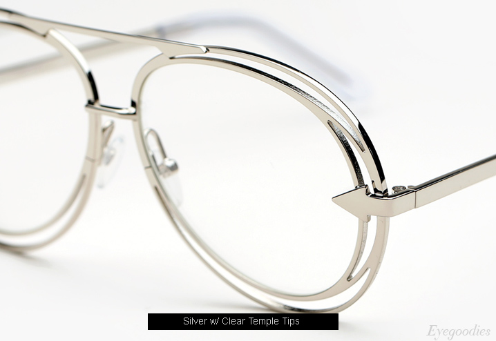 Karen Walker Jacques eyeglasses - Silver