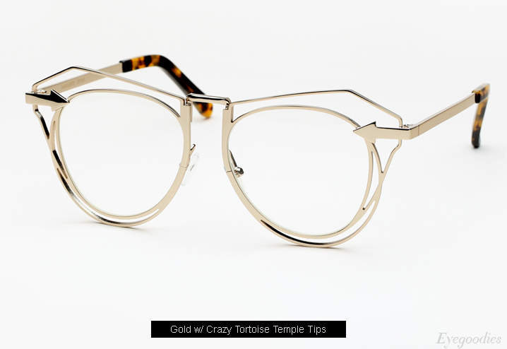 Karen Walker Marguerite eyeglasses - Gold
