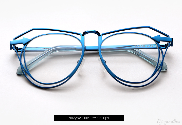 Karen Walker Marguerite eyeglasses - Navy