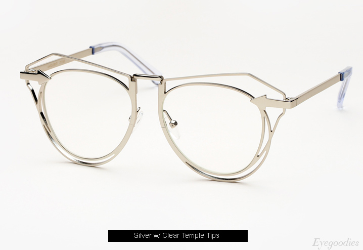 Karen Walker Marguerite eyeglasses - Silver