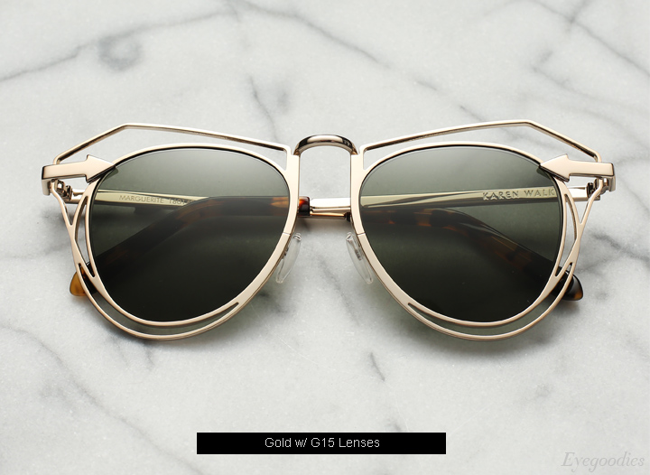 Karen Walker Marguerite sunglasses - Gold