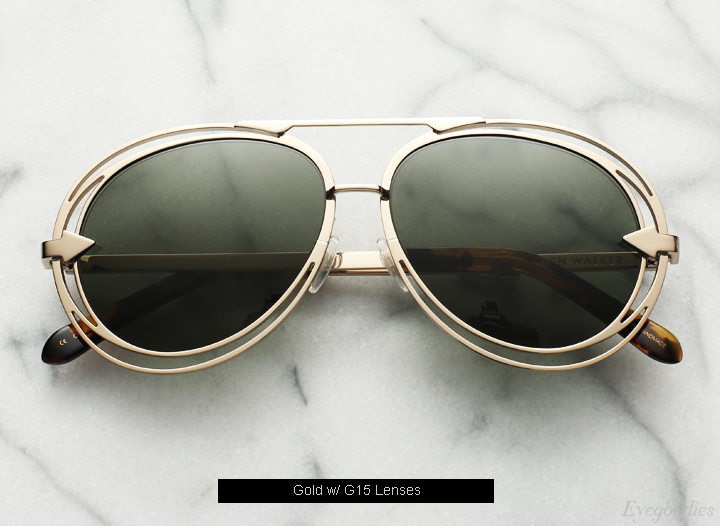 Karen  Walker Jacqes sunglasses - Gold