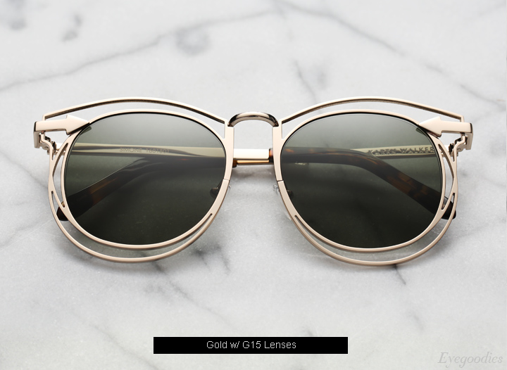 Karen Walker Simone sunglasses - Gold