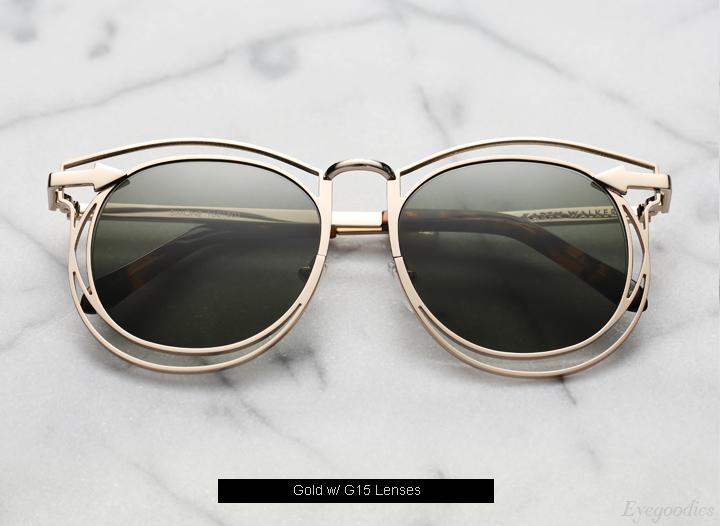 Karen Walker Simone sunglasses - Gold