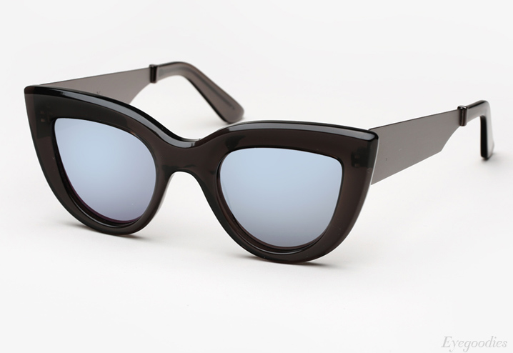 Ellery Quixote Sunglasses - Smoked Grey & Brushed Gunmetal