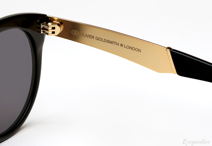 Oliver Goldsmith Manhattan Goldside Sunglasses - Raw Black