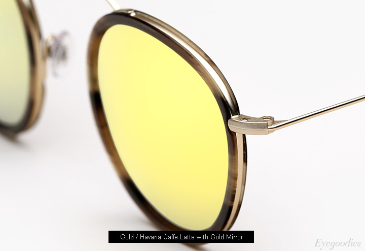 Spektre Met-Ro 2 sunglasses - Gold / Havana Caffe Latte w/ Gold Mirror