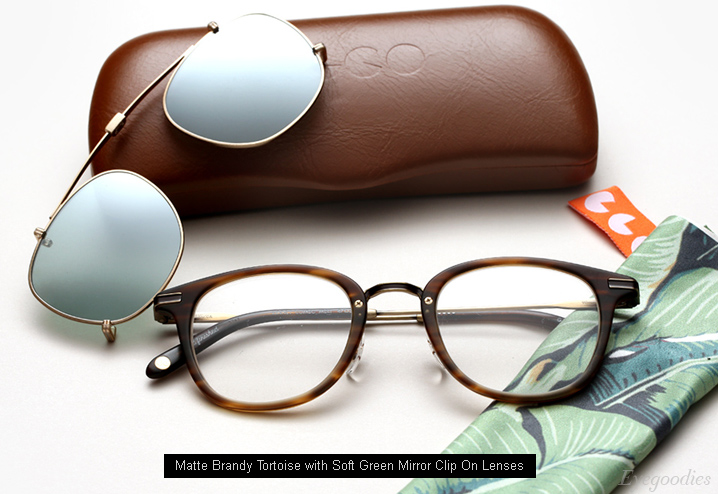 dd593bc405b Garrett Leight GLCO Kinney Combo Clip On Eyeglasses - Matte Brandy Tortoise