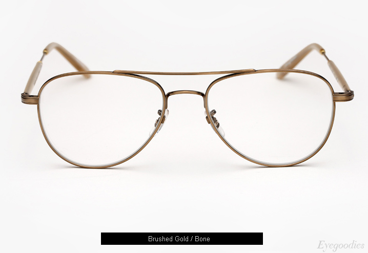 Garrett Leight Linnie eyeglasses - Brushed Gold