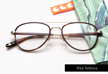 Garrett Leight Linnie eyeglasses - Red Tortoise / Gold