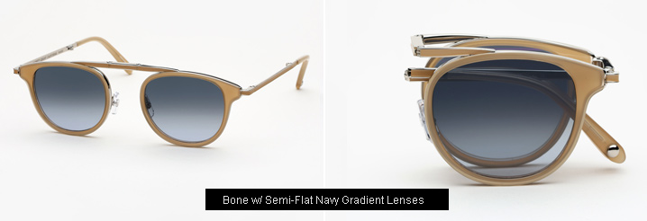 Garrett Leight Van Buren Combo sunglasses - Bone