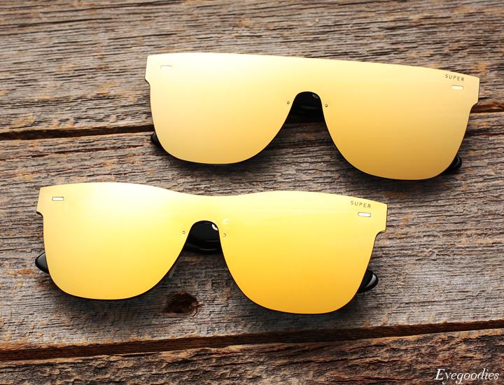 Super Screen Gold Sunglasses - Flat Top and Basic Shape