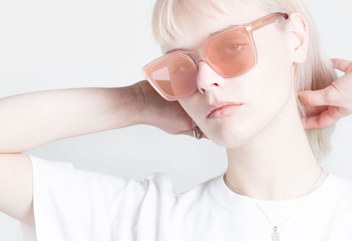 Super Quadra Forma Pink sunglasses