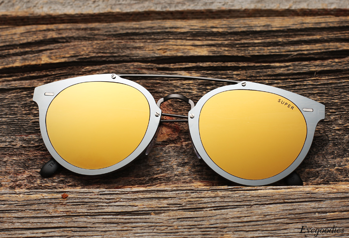 Super Duo Lens Jaguar Gold Silver sunglasses
