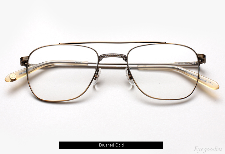 Garrett Leight Riviera eyeglasses - Brushed Gold