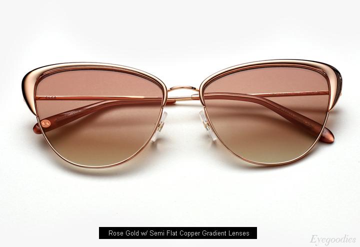 Garrett Leight Vista sunglasses - Rose Gold