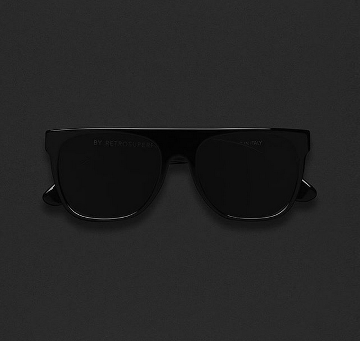 Super Flat Top Black Sunglasses