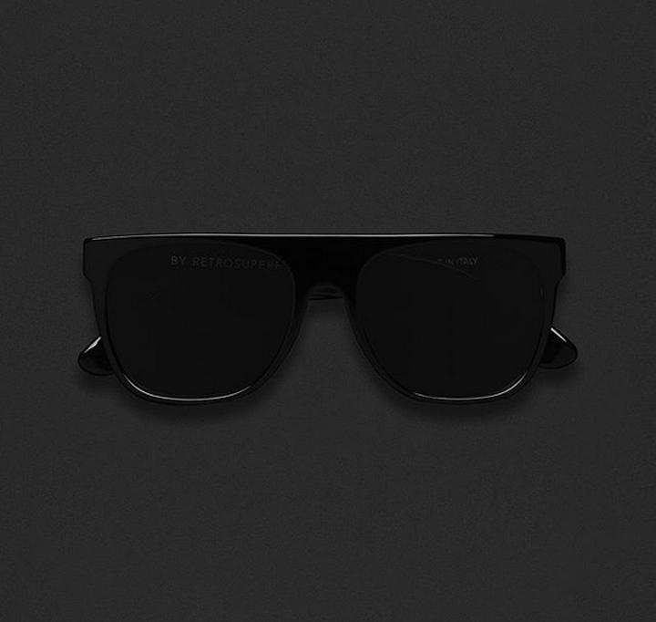 Super Flat Top Black Sunglasses