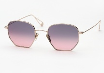 Garrett Leight X Mark McNairy, Liberty - Gold / Pink Gradient