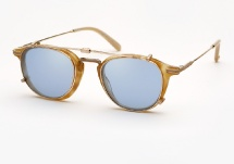 Garrett Leight Hampton Combo - Blonde Shell Bone + Clip (Eye)